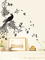 Wall Stickers Wall Decals Style Peacock PVC Wall Stickers