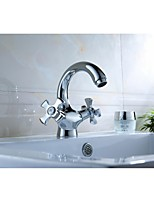 Bathroom Sink Faucet  Chrome Finish Brass (Hot and Cold)