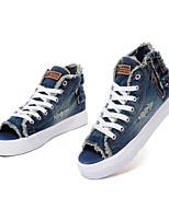 Zapatos de mujer - Tacón Plano - Desteñido / Creepers / Comfort / Punta Redonda - Planos - Casual - Vaquero - Azul / Azul Marino