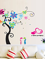 Wall Stickers Wall Decals Style Romantic Flower Tree PVC Wall Stickers