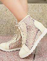 Zapatos de mujer - Tacón Cuña - Cuñas - Sandalias - Oficina y Trabajo / Casual - Semicuero - Negro / Blanco / Beige