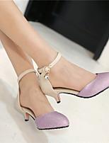 Women's Shoes  Kitten Heel Pointed Toe Pumps/Heels Dress/Casual Black/Purple/Gold