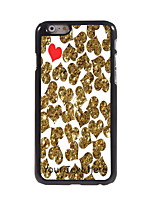 Personalized Gift Golden and Red Heart Design Aluminum Hard Case for iPhone 6