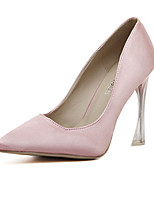 Women's Shoes Silk Stiletto Heel Heels Pumps/Heels Office & Career Black/Blue/Pink/Champagne