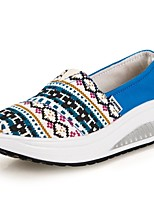 Women's Shoes Canvas Wedge Heel Wedges/Platform/Crib Shoes Loafers Office & Career/Casual Blue/Green/Red