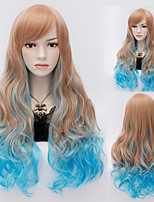 Natyral Wave  Mix Color Long  Hair Wigs Synthetic Hair Wigs Fashion Style