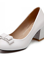 Women's  Chunky Heel Heels Pumps/Heels Office & Career/Dress/Casual Pink/White/Beige