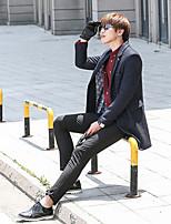 SENLEIS®Men's Casual Plus Sizes Pure Long Sleeve Long Coat (Cotton)