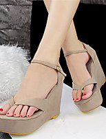 Women's Shoes Leatherette Wedge Heel Wedges/Heels/Creepers Sandals/Pumps/Heels Casual Multi-color