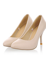 Women's Shoes Stiletto Heel Round Toe Heels Casual Black / Pink / Beige