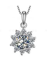 Sterling Silver Dames Kettingen Jublieum/Bruiloft/Verloving/Geschenk/Feest Bergkristal