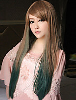 Beautiful Gradients Repair Face Long Straight Hair Wig High Quality