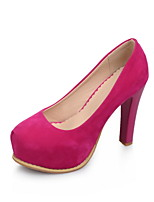 Women's Shoes Chunky Heel Round Toe Pumps/Heels Office & Career/Dress Black/Red/Beige
