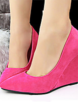 Women's Shoes Faux Fur Wedge Heel Heels Pumps/Heels Casual Multi-color