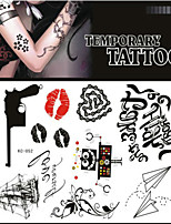 Tattoo Stickers Non Toxic/Pattern/Lower Back/Waterproof Others Adult/Teen Black Paper 1 17*16 Gun