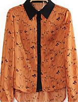 Camicia Da donna Colletto Manica lunga Chiffon