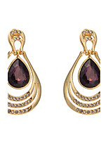 Women's  Fashion Elegant Water Drop Gem Earrings HJ0007