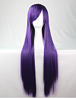 Cos Anime Bright Colored Wigs Purple Long  Straight  Hair Wig 80 cm