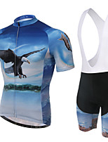 WEST BIKING® Men's Mountain Bike Clothing Bib Suit Breathable Flying Eagle Wicking Cycling Clothing Bib Short Suit