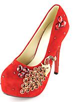 Women's Shoes Fabric Stiletto Heel Heels Pumps/Heels Wedding/Party & Evening/Dress Red