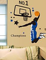 decalques de parede adesivos de parede, parede desenhos animados do basquetebol kobe enterrada pvc adesivos