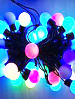 6W 5 Meter Outer Diameter 50pcs Bulb LED Modeling String Lights Big Ball Lights, RGB Color