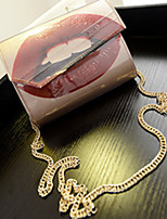 Women 's PU Baguette Shoulder Bag - Gold/Silver