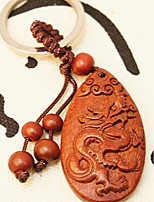 Mahogany Small Ornament Carved Wooden Wooden Gift Peace Hang Chinese Zodiac