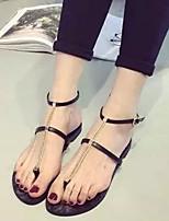 Zapatos de mujer Cuero Sintético Tacón Bajo Tacones Sandalias Vestido/Casual Negro/Oro