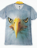European Style TEE Digital Printing 3D  Animal Eagle T-shirt Harajuku Sleeved T-shirt