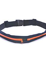 Outdoor Sports Running Cycling Mini Dual Pocket Zipper Belt Bag - Orange + Black