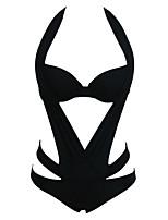 Women's Plicate Halter Monokini Swimsuit
