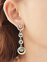 Beautiful Bride Accessories Circle Full Diamond Earrings