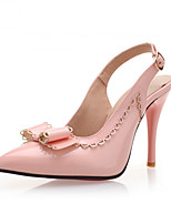 Women's Shoes Synthetic Stiletto Heel Heels/Basic Pump Pumps/Heels Office & Career/Dress/Casual Black/Pink/Red/White
