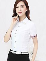 Overhemdkraag - Katoen Vrouwen - Overhemd - Korte mouw