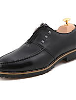 Men's Shoes Outdoor / Office & Career / Casual Leather / PVC / Leatherette Oxfords Black / Brown / Red