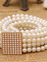 Women Noble Fashion Pearl Belt Party/Casual Alloy Others Wide Belt