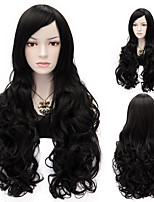 Color #1 Wave Synthetic Wig Womens' Hair High Quality Synthetic Wigs