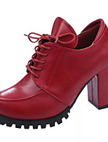 Women's Shoes Chunky Heel Round Toe Lace-up Pumps/Heels