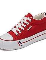 Zapatos de mujer Tela Tacón Plano Comfort/Punta Redonda Sneakers a la Moda Exterior/Casual Negro/Azul/Rojo/Blanco