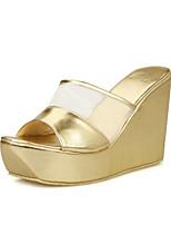 Women's Shoes Wedge Heel Wedges/Peep Toe Sandals Dress Black/Silver/Gold