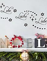 pared calcomanías pegatinas de pared, lebe lache palabras en alemán&cita pegatinas de pared del pvc