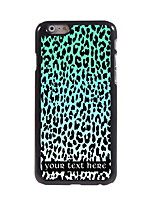 Personalized Gift Blue Leopard Print Design Aluminum Hard Case for iPhone 6 Plus