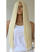 80 cm Gold in The High Temperature Wire Points Long sStraight Hair Wig