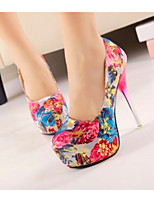 Women's Shoes  Stiletto Heel Heels/Round Toe Pumps/Heels Party & Evening/Casual Blue/Red