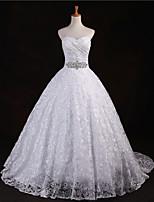 웨딩 드레스 - 아이보리(색상은 모니터에 따라 다를 수 있음) A 라인 바닥 길이 스윗하트 레이스