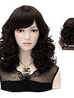 40cm Long wavy wigs Black color European style women fashion wigs party wigs cosplay costume wig