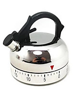 60 mins Teapot Shaped Mechanical Kitchen Timer Cooking Count Down