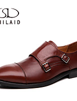 Men's Shoes Casual Leather Oxfords Burgundy