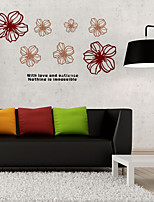 Wall Stickers Wall Decals Style Wiht Love And Patience English Words & Quotes PVC Wall Stickers